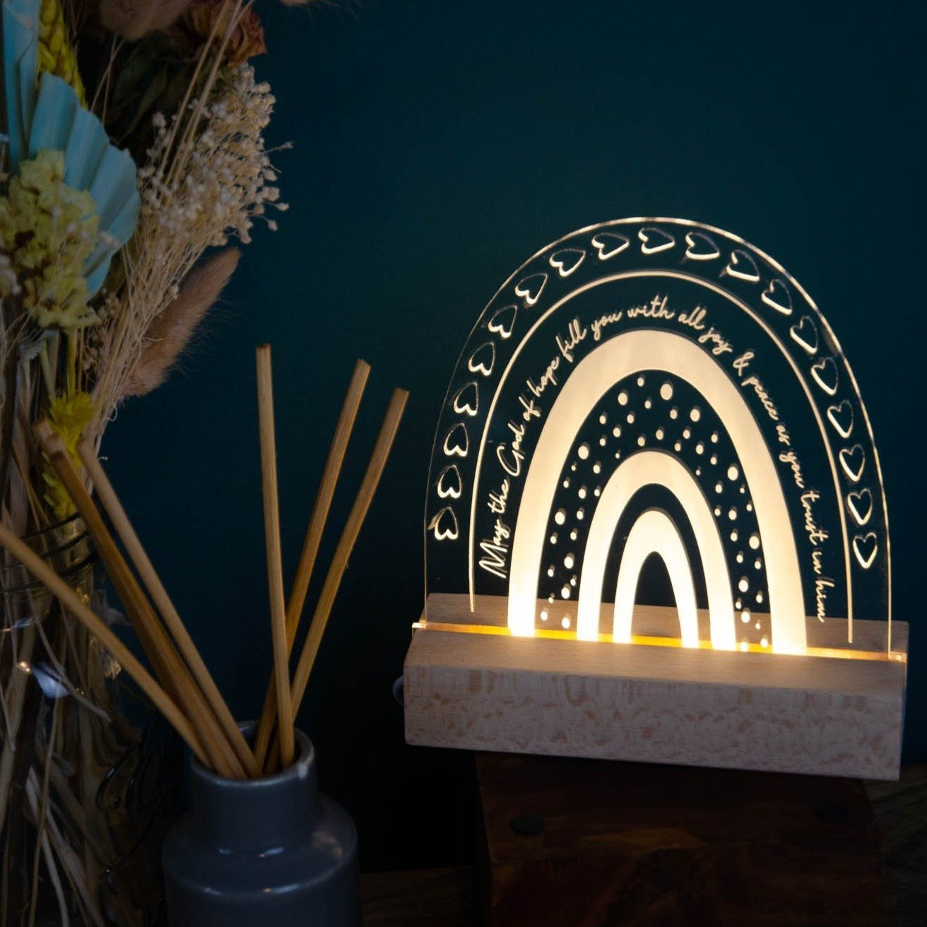 God of Hope night light design