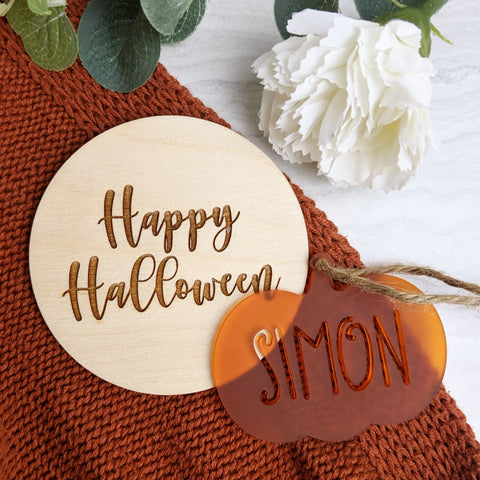 Happy Halloween mileston anf tag bundle