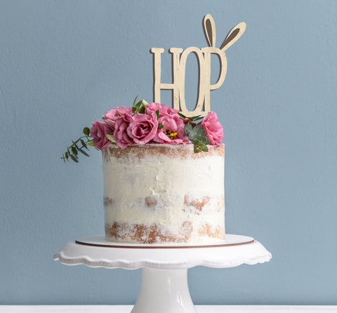 Hop easter eco friendly cake topper - Birch and Tides