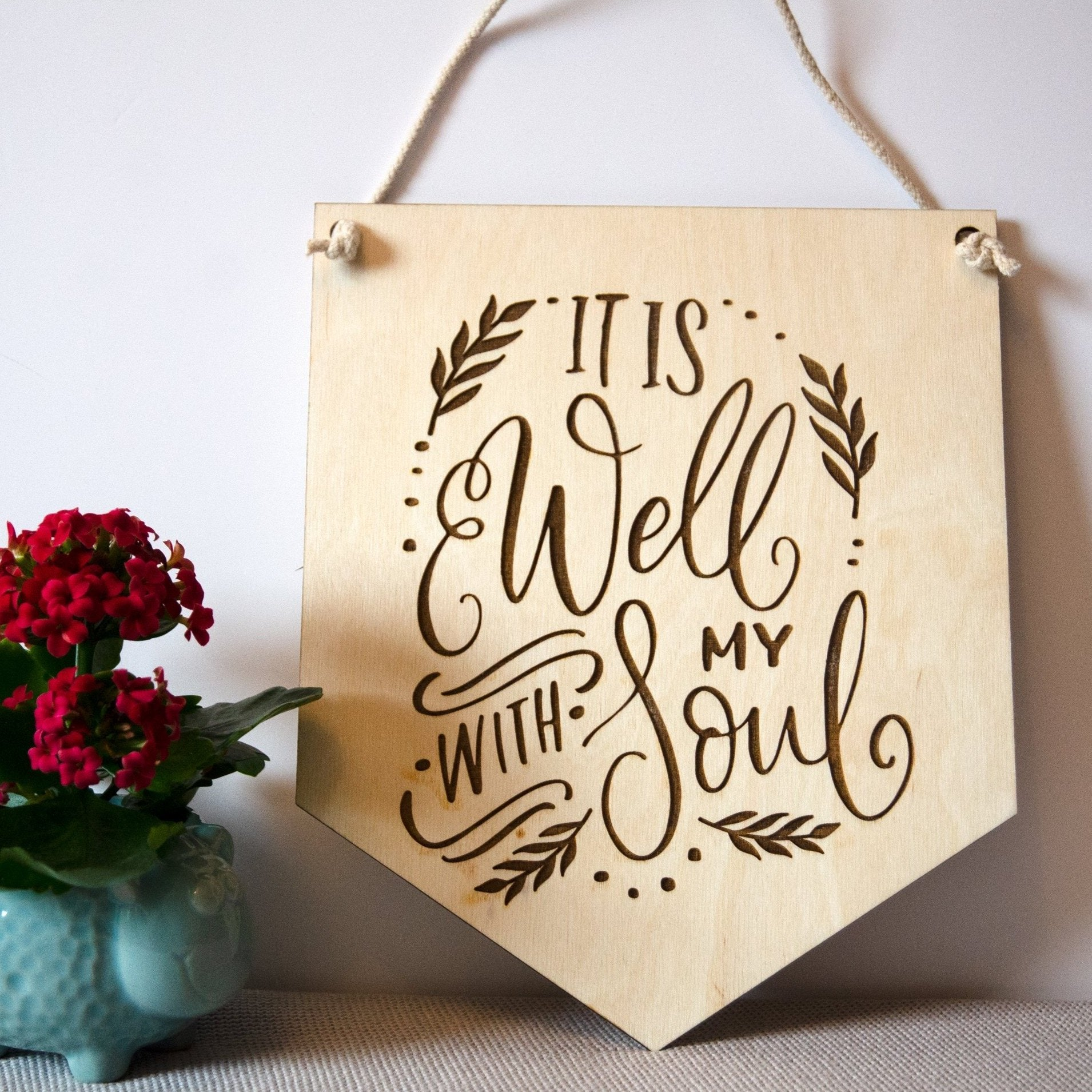 'It Is Well With My Soul' Wooden Hymn Banner