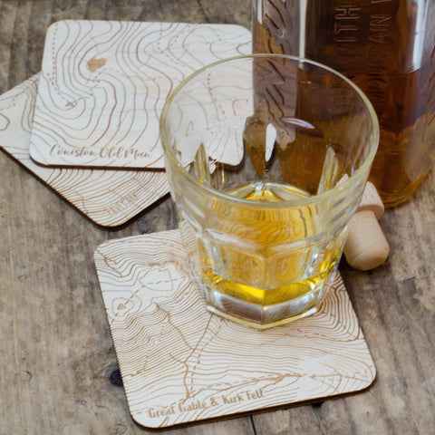 Lake district coaster gift set - Birch and Tides
