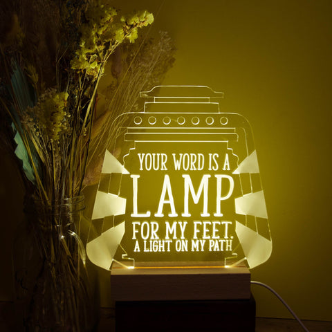 Lamp to our feet light design - Birch and Tides