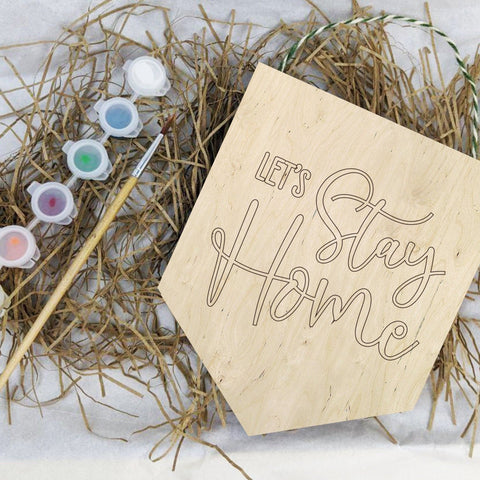 Let's stay home painting banner kit - Birch and Tides