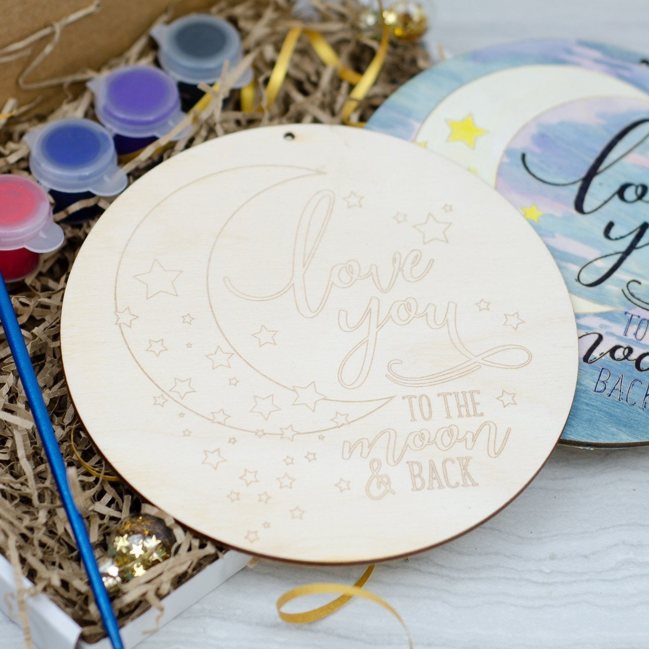 Love you to the moon and back painting kit