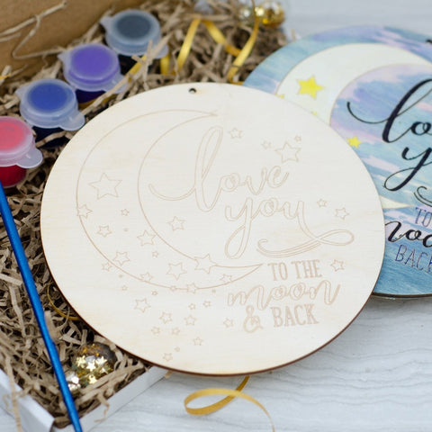 Love you to the moon and back painting kit - Birch and Tides