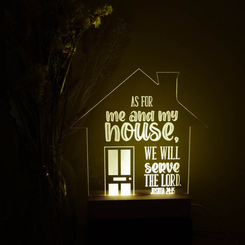 My house will serve the Lord night light - Birch and Tides