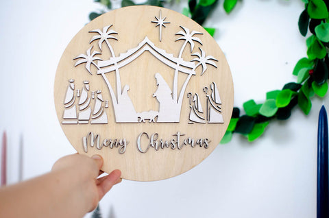 Nativity Merry Christmas Wall Art