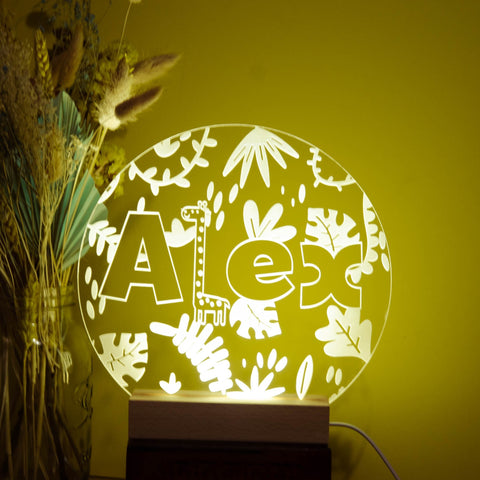 Personalised Jungle night light - Birch and Tides
