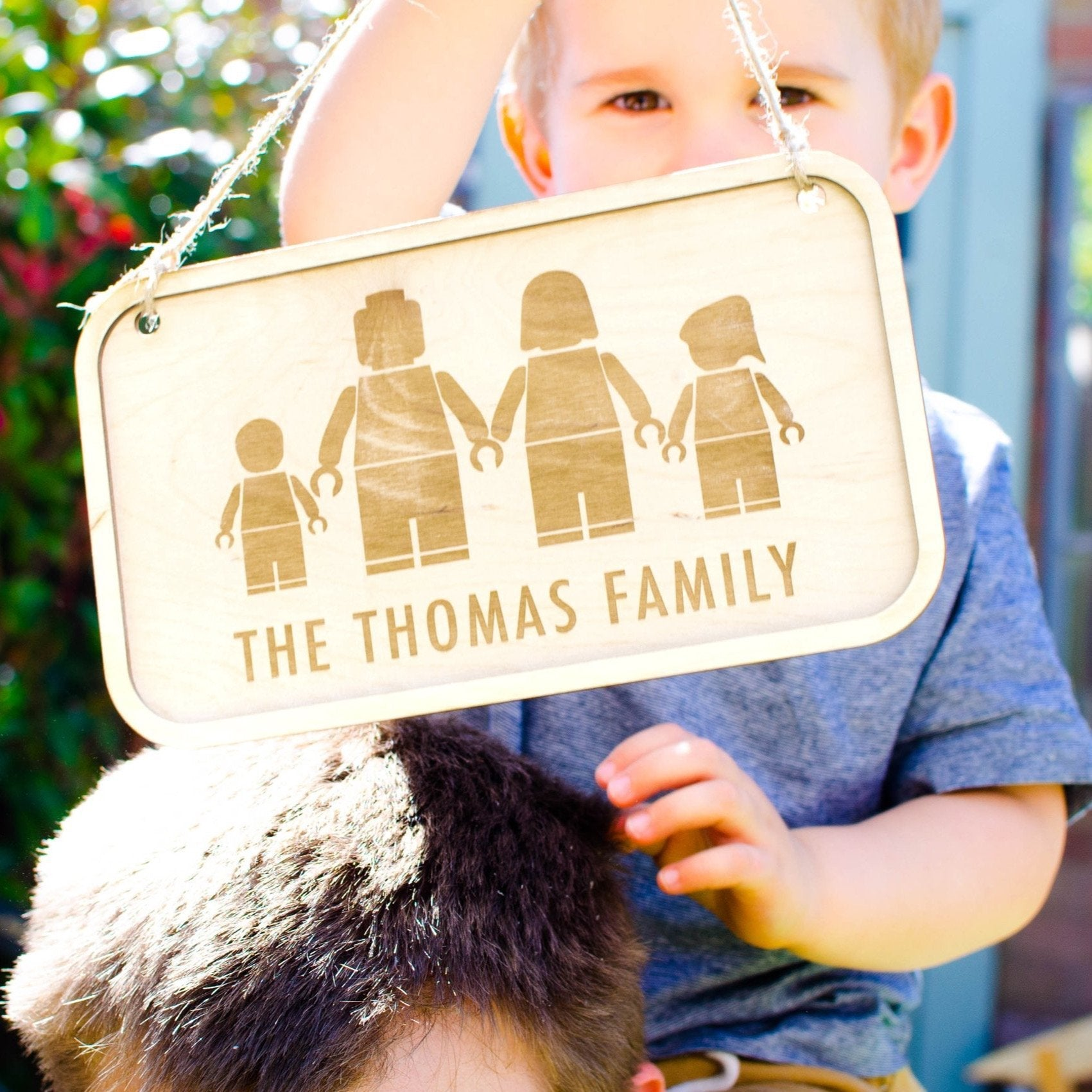 Personalised Lego family wall hanging sign