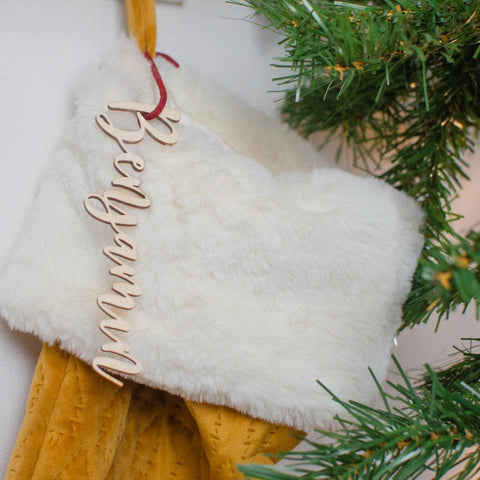Personalised name stocking gift tag - Birch and Tides