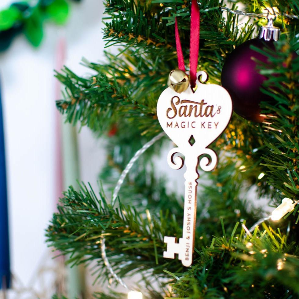 Personalised Santa's Magic Key ornament