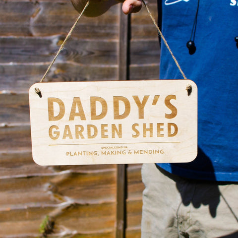 Personalised Wooden Shed sign - Birch and Tides