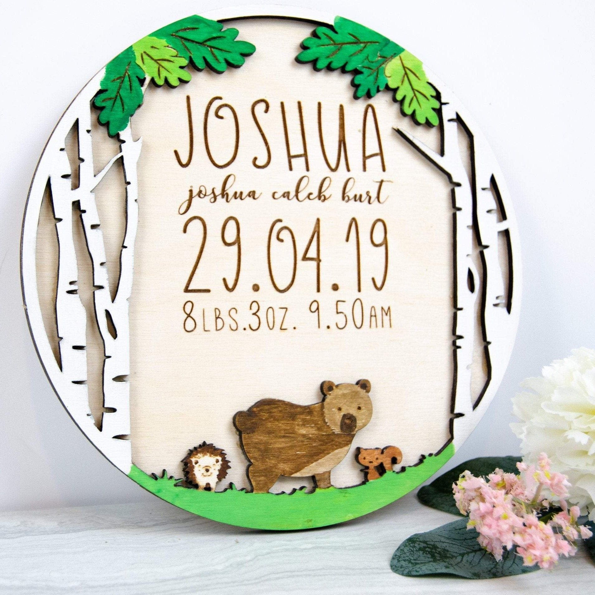 Personalized Newborn Details Baby Gift