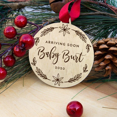 Pregnancy Announcement Christmas ornament - Birch and Tides