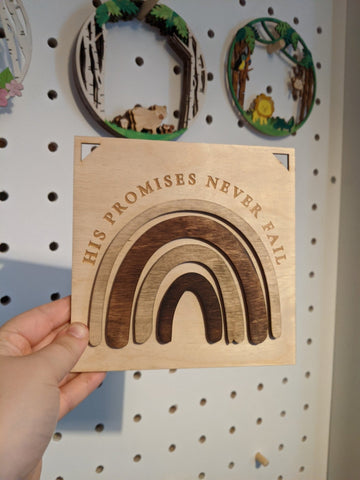 Promises never fail wooden plaque - Birch and Tides