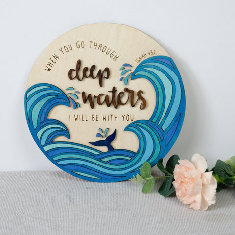 Scripture wall art nautical sign - Birch and Tides