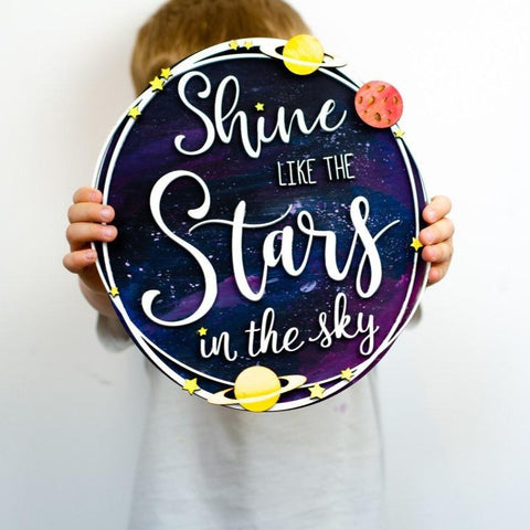 Shine like the stars wooden wall art - Birch and Tides