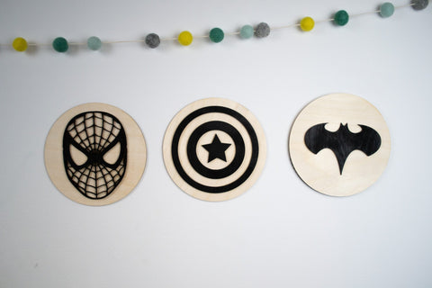 Superhero sign collection wooden sign - Birch and Tides
