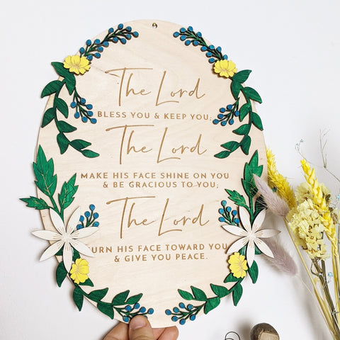 The lord bless you wall sign - Birch and Tides