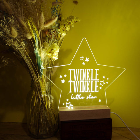 Twinkle Twinkle star night light - Birch and Tides