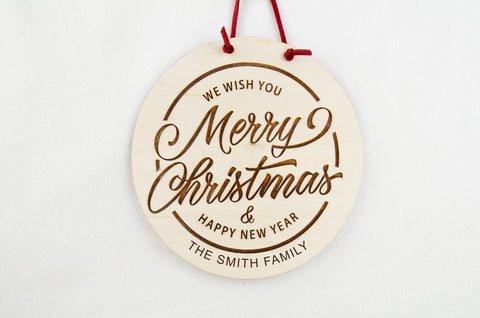 We wish you a Merry Christmas wall sign - Birch and Tides