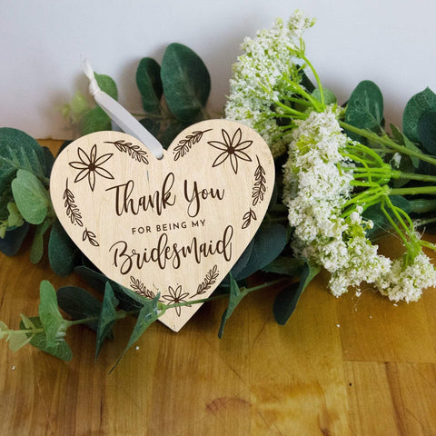 Wooden Bridesmaid thank you gift