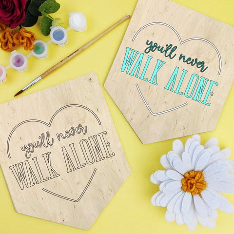 You'll never walk alone painting banner kit - Birch and Tides