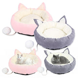 Washable Dog Bed Plush Long Dog House Cat Kennel Sofa