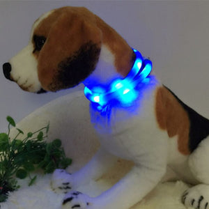 LED Pet Dog Collar USB Rechargeable