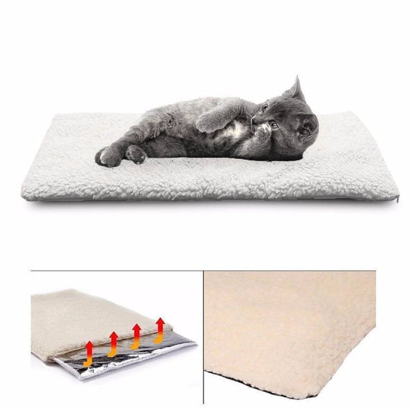Winter Self Heating Dog Cat Blanket Pet Bed Mats Machine Washable