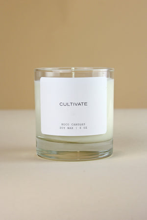 CULTIVATE Signature Blend Soy Candle - 6 oz - MOCO Candles