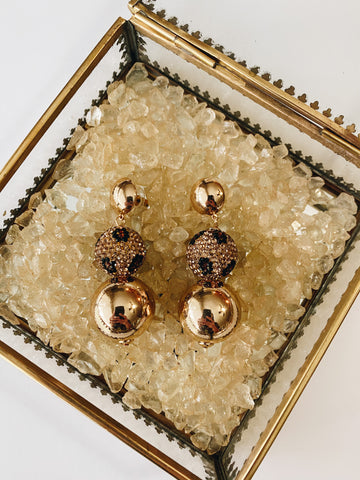 Golden Stud dangle earrings