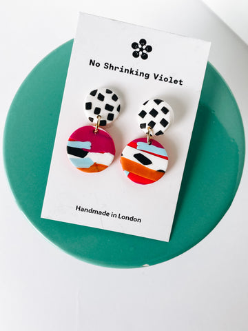 Cruella mini drop earrings