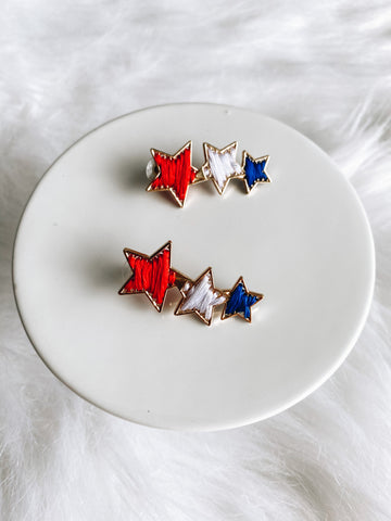 Red white and Blue studs