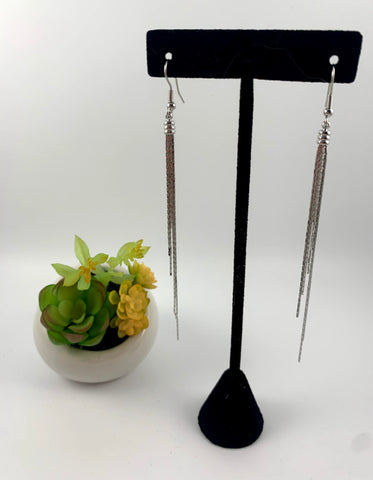 Drop a Line dangle earrings