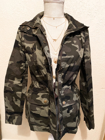 Standing at attention- Military jacket