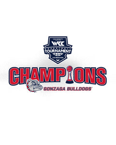 WCC 2020 Men's Basketball Tournament Championship Gonzaga Short Sleeve T-Shirt
