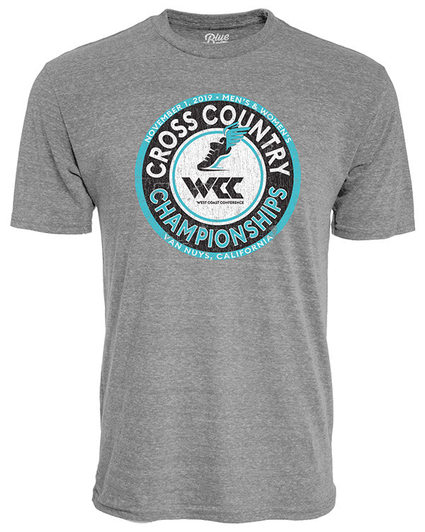 West Coast Conference Cross Country Grey Short Sleeve T-Shirt