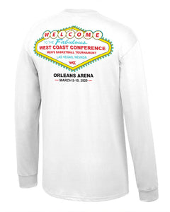 West Coast Conference 2020 Men's Basketball Tournament White Long Sleeve T-Shirt