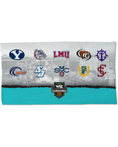 West Coast Conference 2020 Men's Basketball Tournament Court Towel