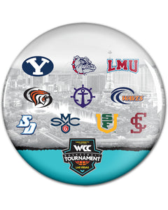 West Coast Conference Men's Basketball Tournament Button Collection