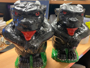 Vintage, hand-painted concrete Gargoyles - Retro Treasure Leeds