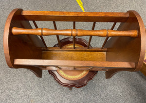 Large Oak Magazine Rack - Retro Treasure Leeds