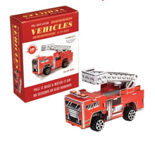 Load image into Gallery viewer, DIY Pull-back Fire Engine - Retro Treasure Leeds