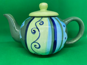 Jeff Banks 'Ports of Call' Hand Painted Teapot - Retro Treasure Leeds