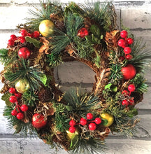 Load image into Gallery viewer, Traditional Christmas Wreaths - Retro Treasure Leeds