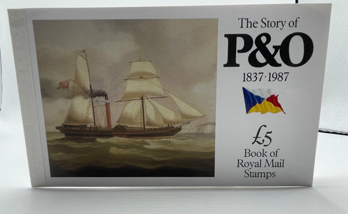 1987 GB ROYAL MAIL PRESTIGE STAMP BOOK DX8 THE STORY OF P&O 1837 1987
