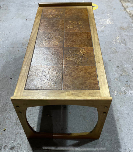 Vintage Tile-Topped Table with Teak surround - Retro Treasure Leeds