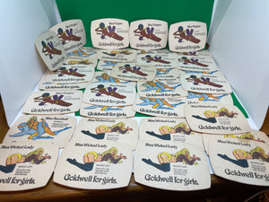 35 Goodwell for Girl's Vintage Beer Mats (Lot 8) - Retro Treasure Leeds
