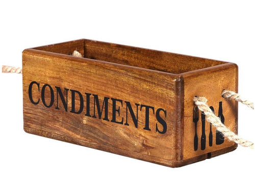 Condiments Wooden Box